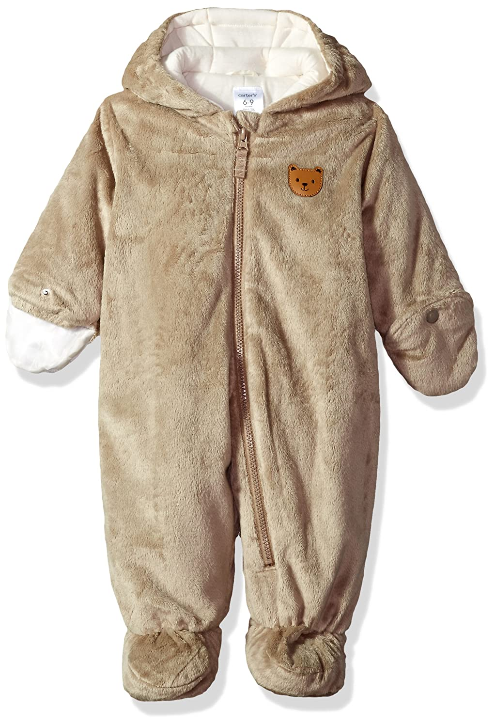 add62a6a8 Amazon.com  Carter s Baby Hooded Sherpa Pram Sleep   Play  Clothing