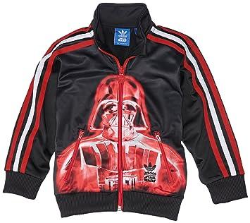adidas Jungen Trainingsjacke Star Wars Darth Vader Firebird, Black/Red,  152, S14435