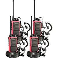 $43 » Arcshell Rechargeable Long Range Two-Way Radios with Earpiece 4 Pack Walkie Talkies UHF…
