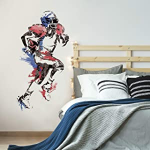 RoomMates Men'S Football Champion Peel And Stick Giant Wall Decals