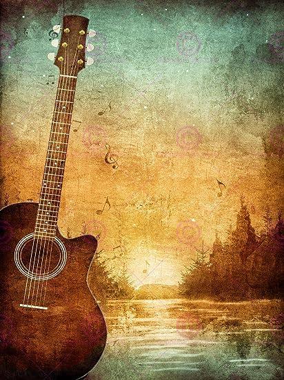 Amazon Com Painting Drawing Design Guitar Landscape Forest Grunge
