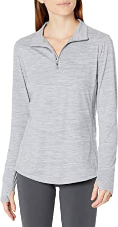 Amazon Essentials Women's Brushed Tech Stretch Long-Sleeve Quarter-Zip Shirt