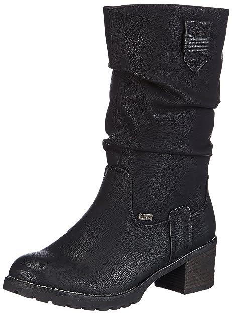 Rieker 97152 00 Damen Langschaft Stiefel