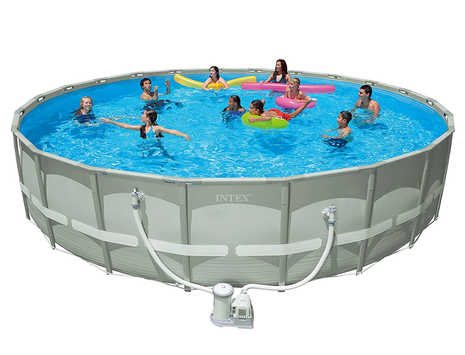 Amazoncom Intex 22 x 52 Ultra Frame Pool Set Garden Outdoor