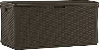 product image for Suncast BMDB134004 Wicker Resin Deck Box, 134 gallon