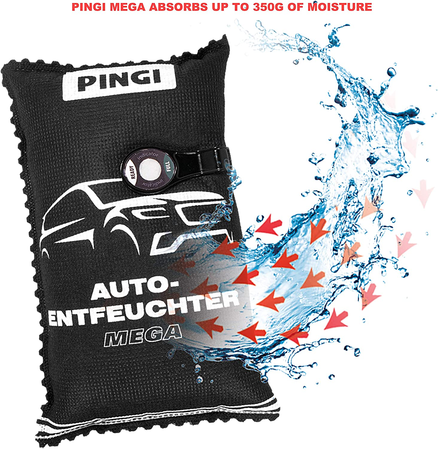Reusable After 12 mins In Microwave For Car and Home 1000g Single Pack Pingi Mega Dehumidifier ASB-1000