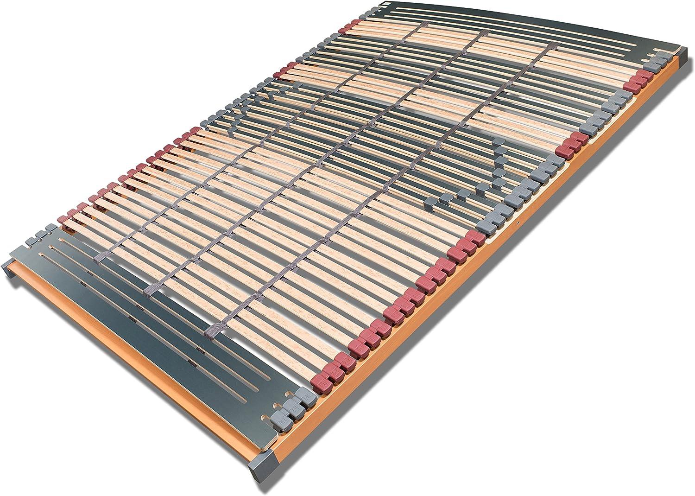 FMP Colchón Manufaktur somier de 7 Zonas Rhodos NV 44 Listones Caucho Trio somieres Cinturón Central 140 x 200 cm