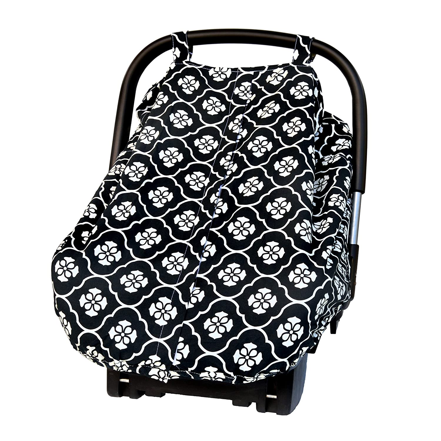 Jj Cole Car Seat Canopy, Black Floret J00537