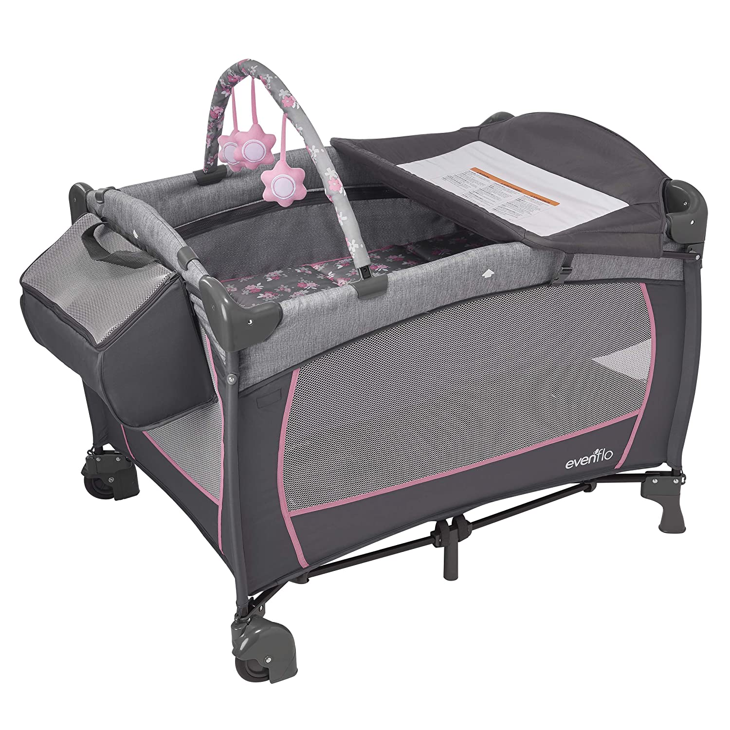 Evenflo Portable BabySuite DLX Playard, Poppy