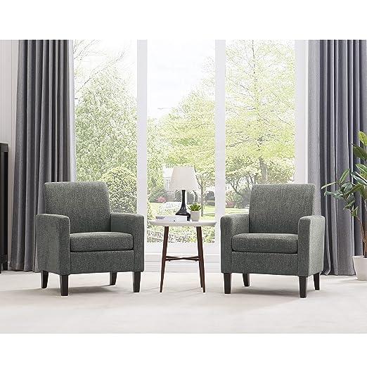 Amazon.com: Domesis Track Arm Chair 2pk in Gray Multi-Warp ...
