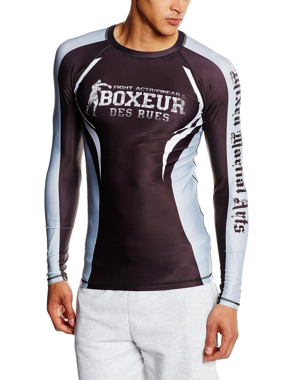 BOXEUR DES RUES Fight Sportbekleidung T-Shirt MMA, Herren, Langarm
