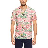 French Connection Men's Retro Palms Short Sleeve Classic FIT Shirt, Multi