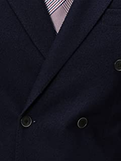 Loop Yarn 6-button Double Breasted Jacket 3122-699-0853: Navy