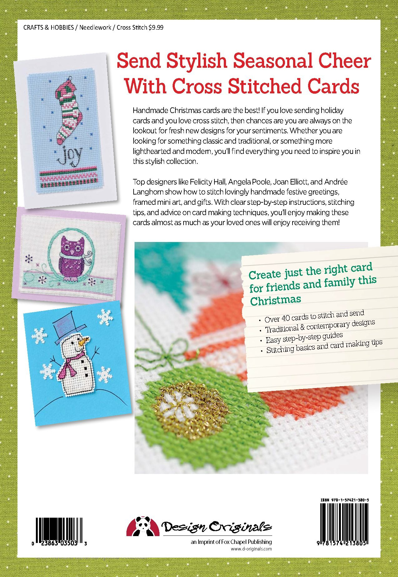 Cross Stitched Cards For The Holidays Simply Stylish Cards And Tags