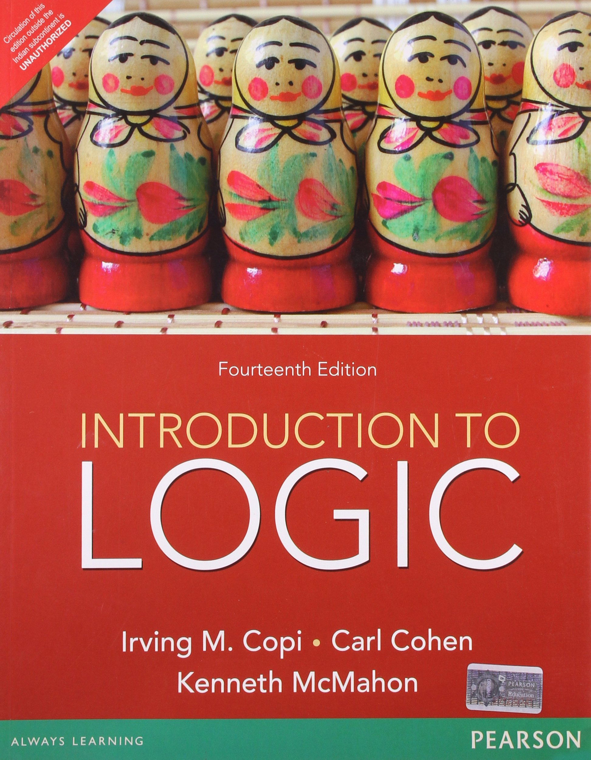 Introduction to Logic: Copi/ Cohen / McMahon: 9788131788653