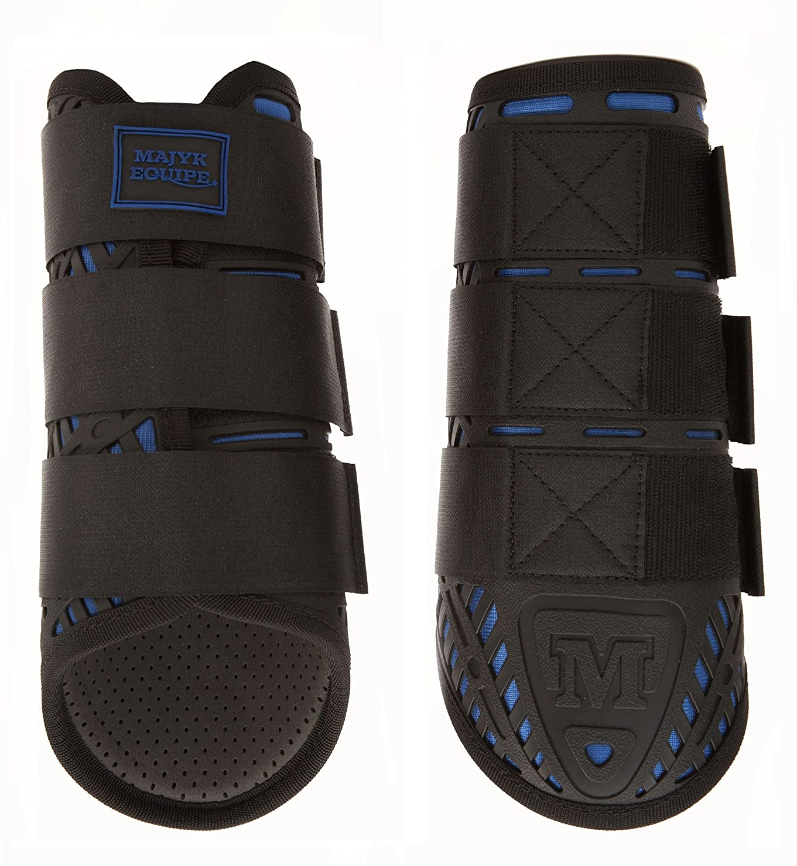 Elite Cross Country Boots for Front脚 ブラックブルー Medium