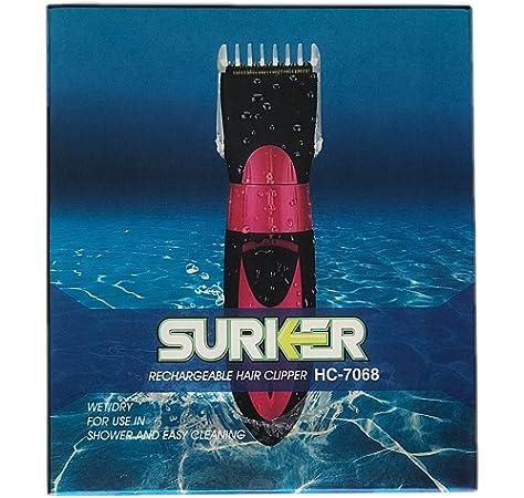 Maquinilla Cortapelos Surker HC-7068 recargable pelo afeitado ...