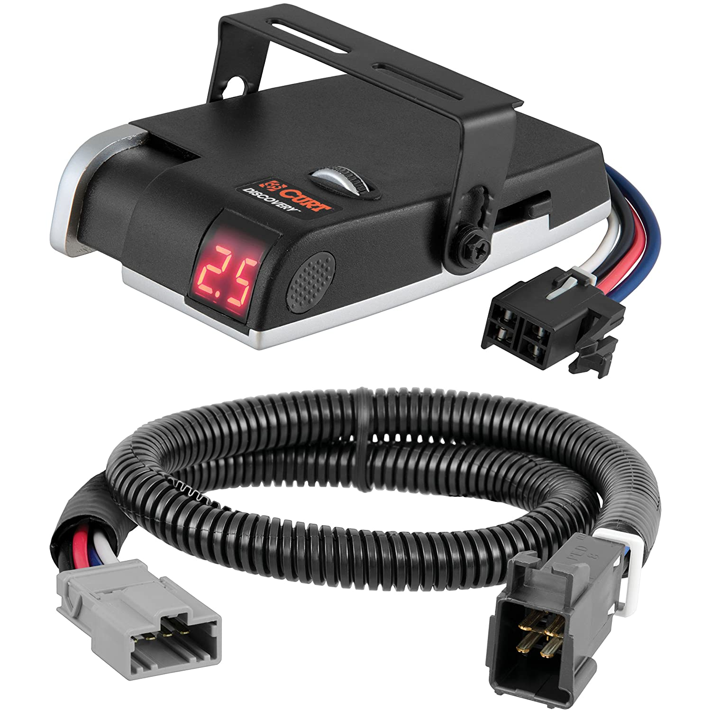 CURT Discovery Brake Controller & Wiring Kit for Honda Pilot, Ridgeline - 51392 & 51120 Curt Manufacturing