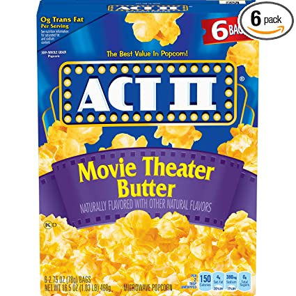 ACT II - Bolsas para palomitas de maíz para microondas ...