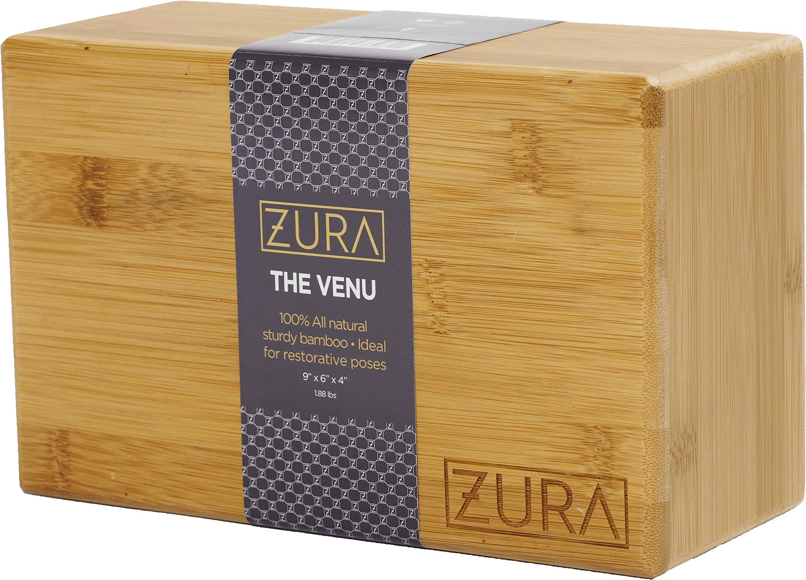 ZURA Premium Yoga Block (Bamboo Yoga Block)