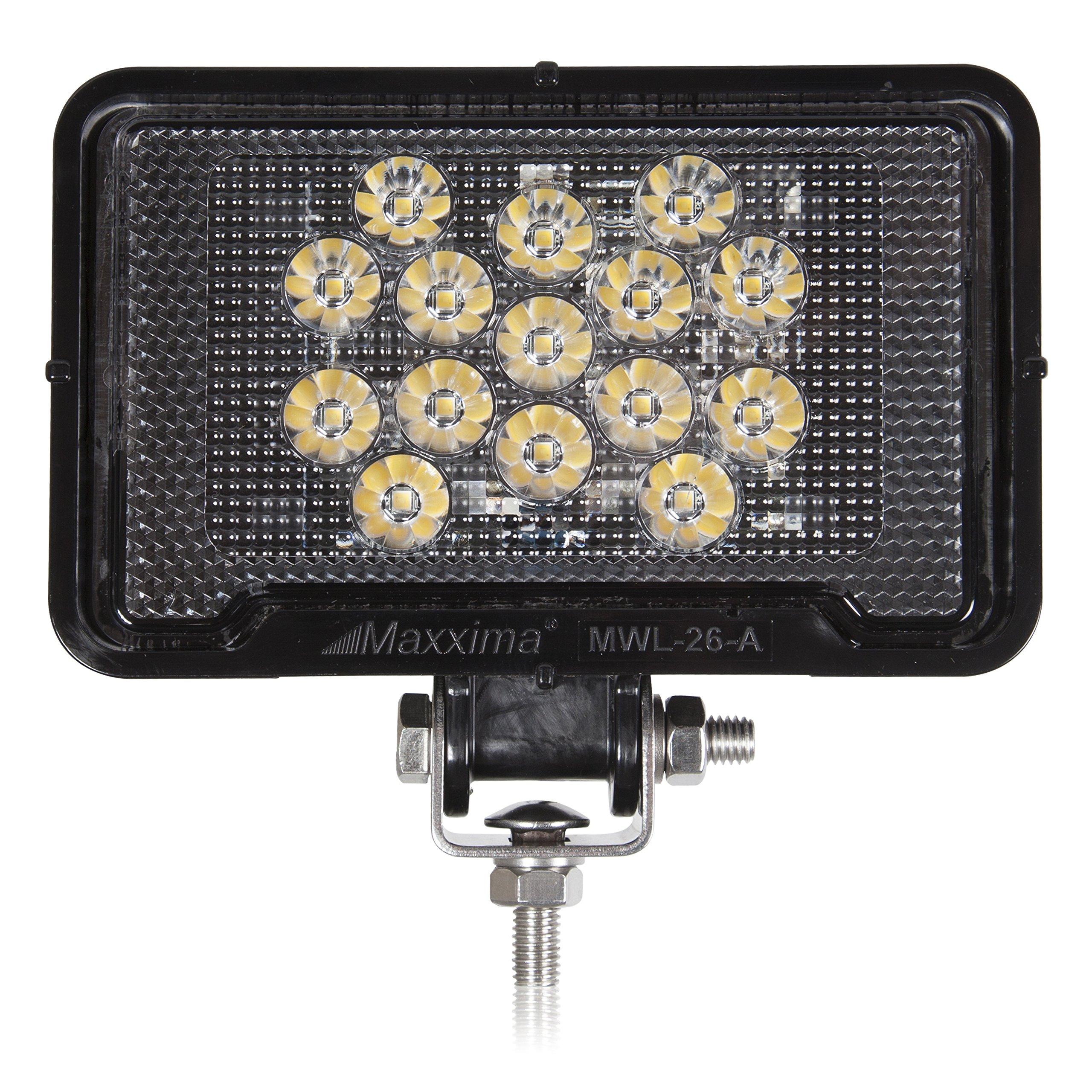 Maxxima MWL-26-A Black Rectangular 15 LED Work Light 550 Lumens by Maxxima