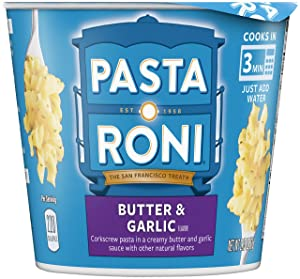Pasta Roni Cups, Butter Garlic Pasta Mix, 2.15 oz (Pack of 12 Cups)