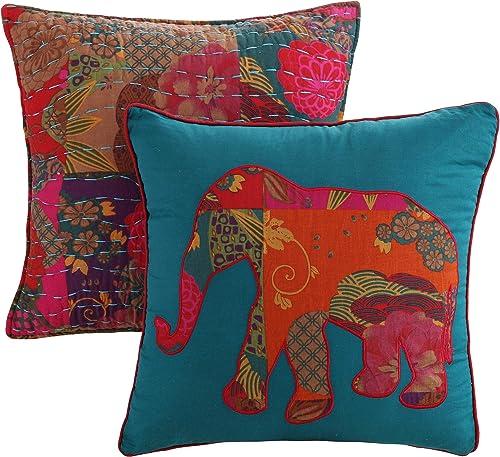 Greenland Home Fashions Jewel Dec. Pillow Pair Accessory-Multi, Multicolor
