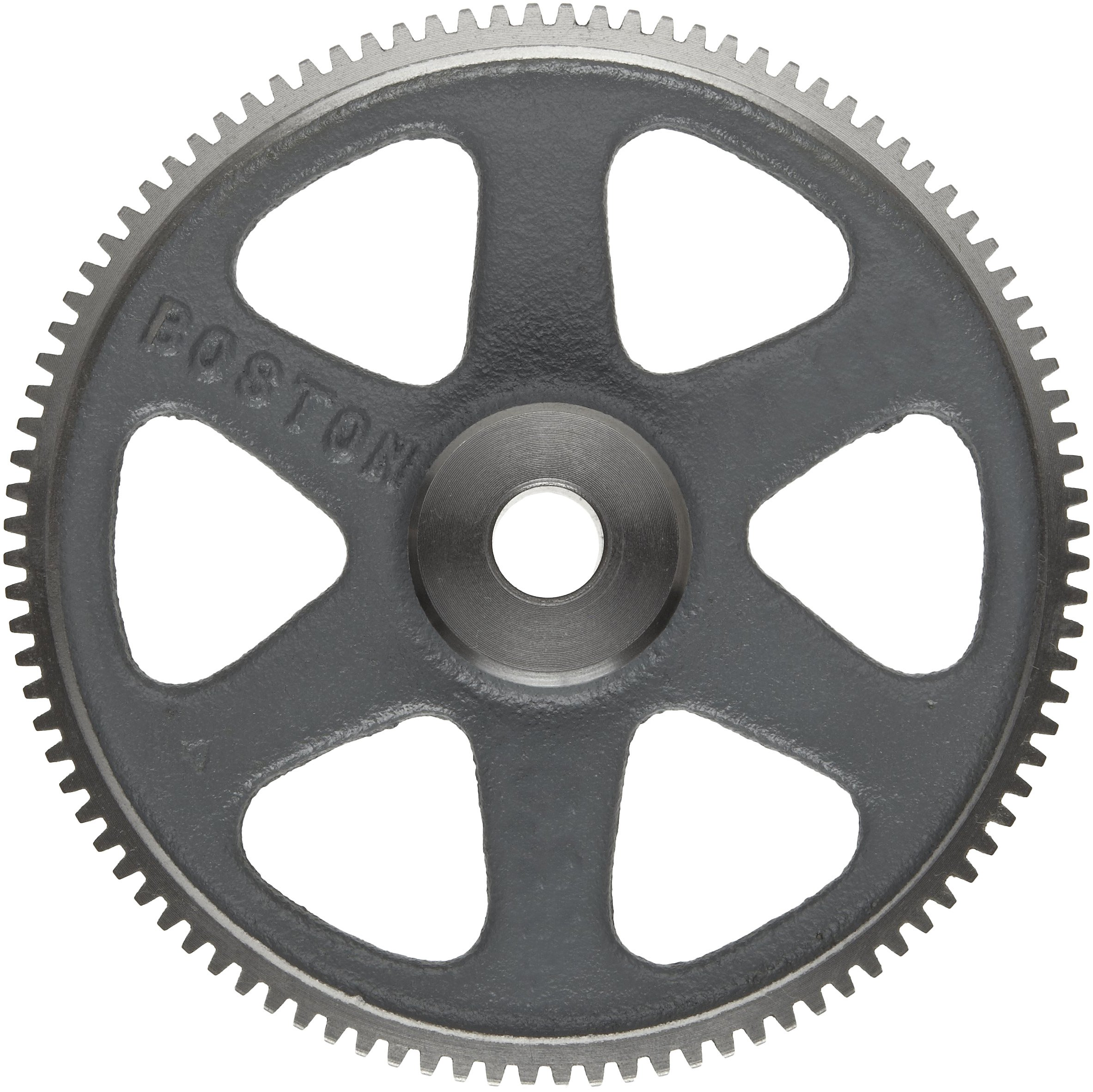 Boston Gear NA96 Spur Gear, 14.5 Pressure Angle, Cast Iron, Inch, 20 Pitch, 0.500'' Bore, 4.900'' OD, 0.375'' Face Width, 96 Teeth