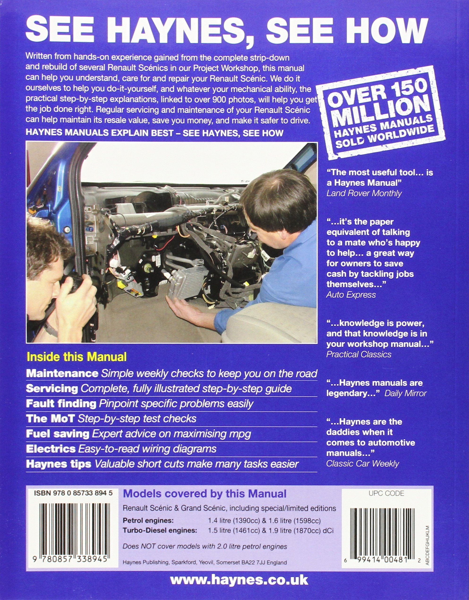 Renault Scenic: Amazon.es: Haynes Publishing: Libros en idiomas extranjeros