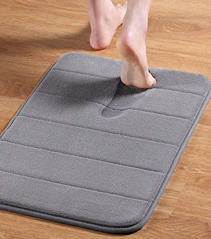 Amazon Com 24 X 17 Microfiber Memory Foam Bath Mat With Anti