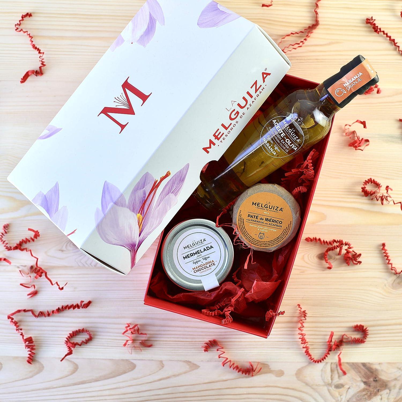 Lotes y cestas de Navidad. Pack Regalo gourmet Azafrán y Naranja: Amazon.es: Alimentación y bebidas