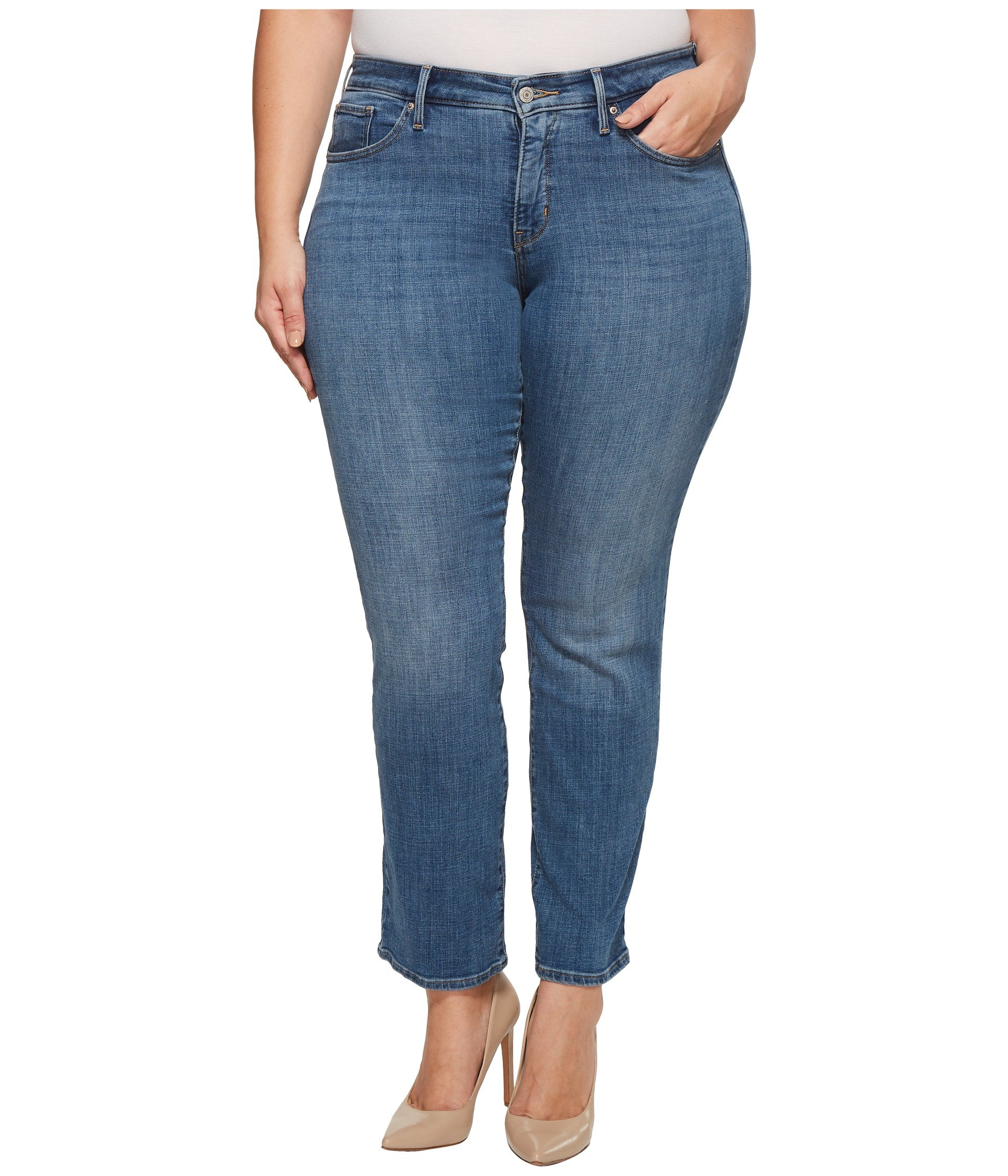 Levi's Women's Plus Size 314 Shaping Straight Jeans, Indigo Anomaly, 44 (US 24) R