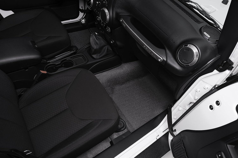JK UNLIMITED 4DR FRONT 4PC FLOOR KIT BedTred BTJK07F4 fits 07 BedRug Jeep Kit INCLUDES HEAT SHIELDS