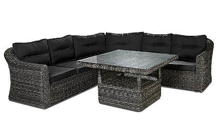 Alta calidad llano Lounge compuesto de mesa y - Banco esquinero ...
