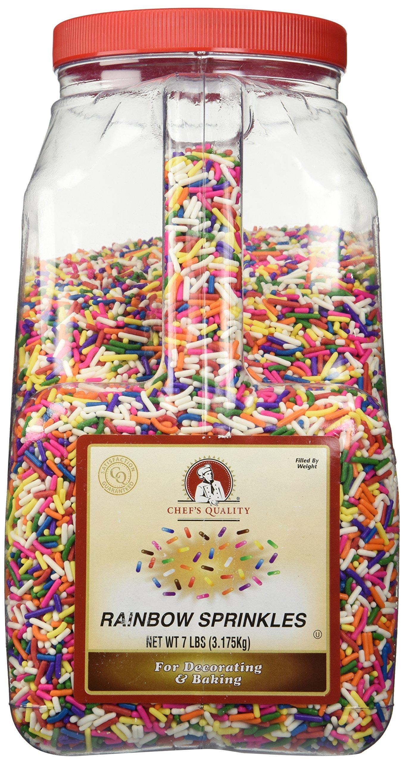 Chef's Quality Rainbow Sprinkles, 7 lb