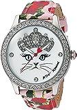 Betsey Johnson Women's Quartz Metal and Polyurethane Casual Watch, Color:Pink (Model: BJ00131-79)