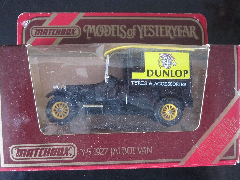 calidad oficial 1927 Talbot Van (negro 12spokes) 12spokes) 12spokes) Dunlop Tyre Logo Matchbox Model of Yesteryear Y-5 Issued 1978 by Matchbox  envío gratis