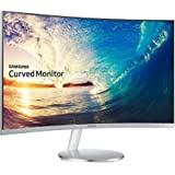 Samsung C27F591 27 inch Curved LED Monitor - White/Silver