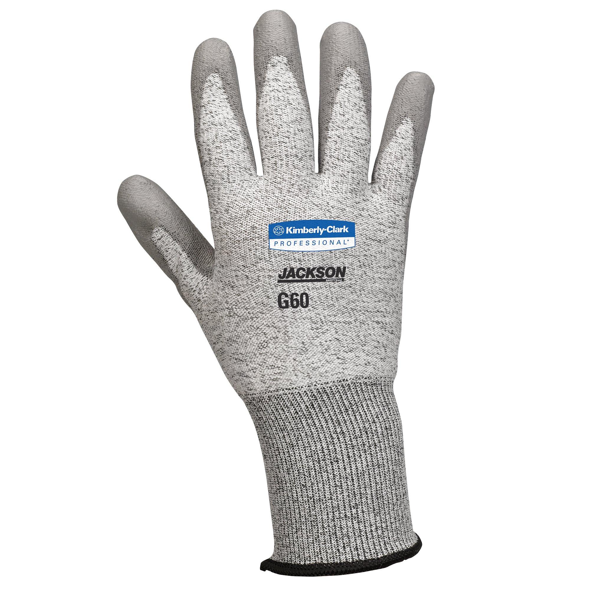 Jackson Safety G60 Level 3 Economy Cut Resistant Gloves (13825), Grey & Salt & Pepper, Large, 12 Pairs / Bag, 1 Bag