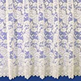"Balmoral Mediumweight Jacquard Net Curtain In Cream - Sold By The Metre - 45"" (114cm) Drop"
