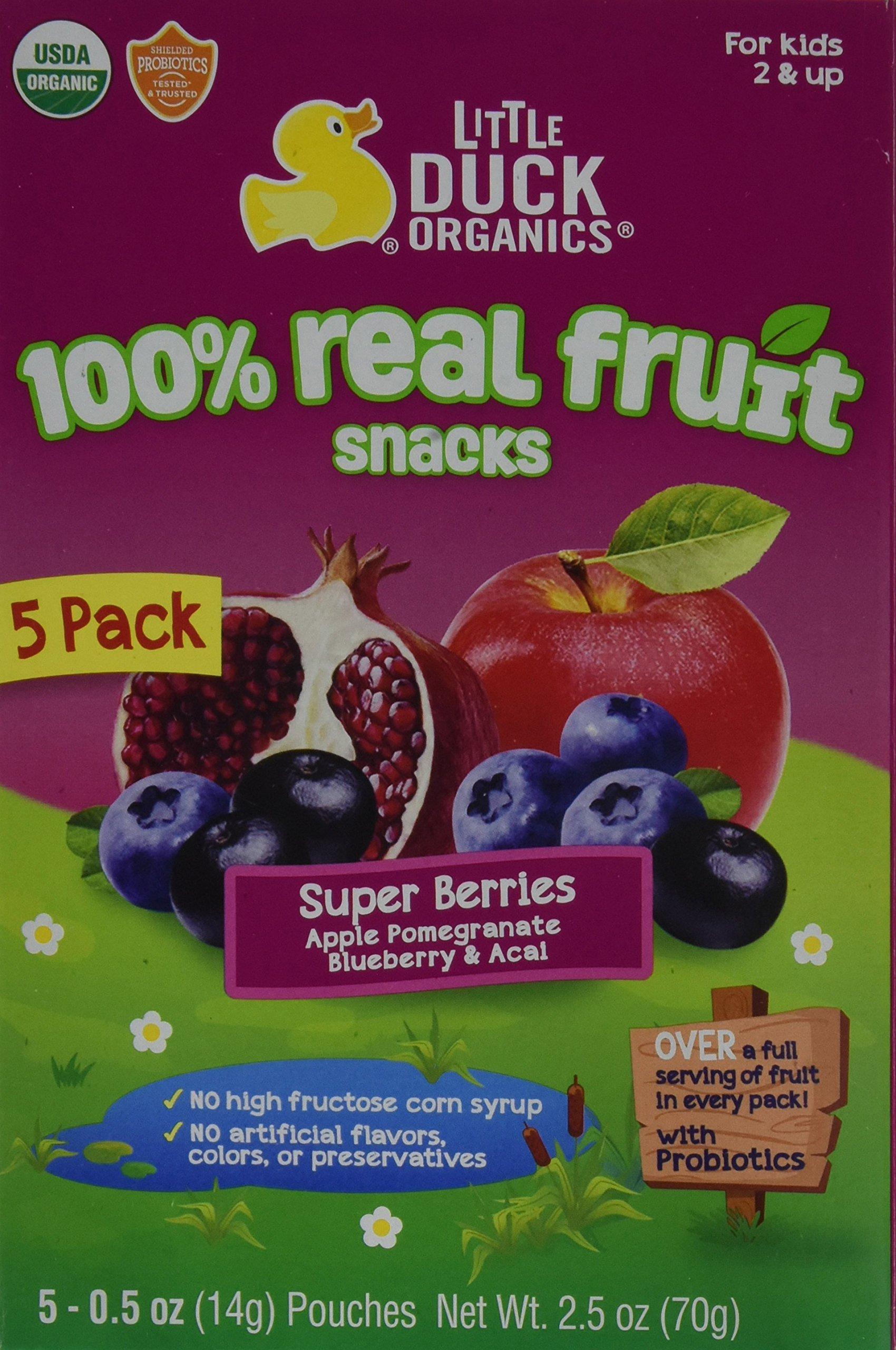 Little Duck Organics Gummies Pomp Blueberry Acai, 2.5 oz