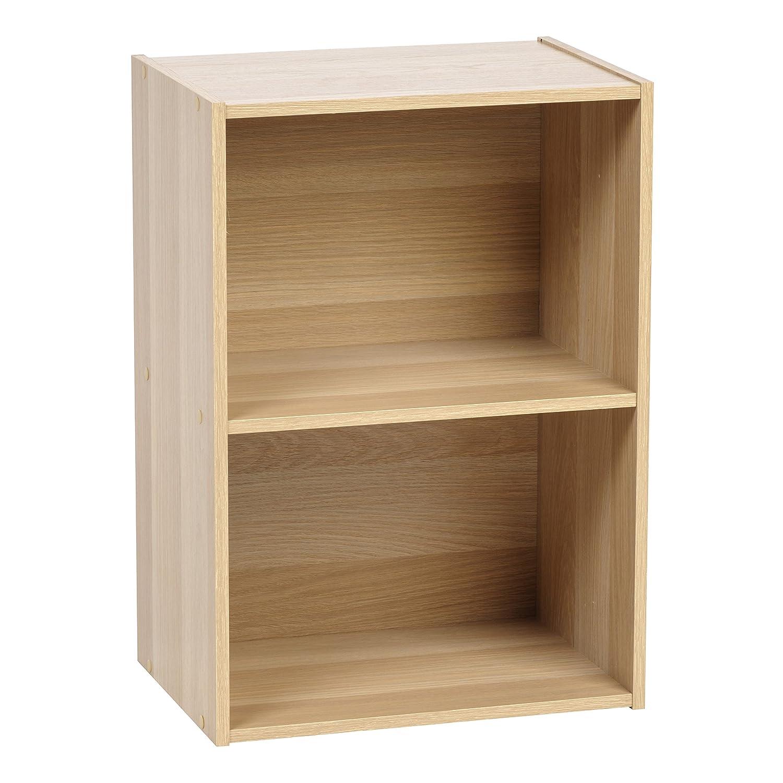 IRIS USA 596164 2-Tier Wood Storage Shelf, Light Brown