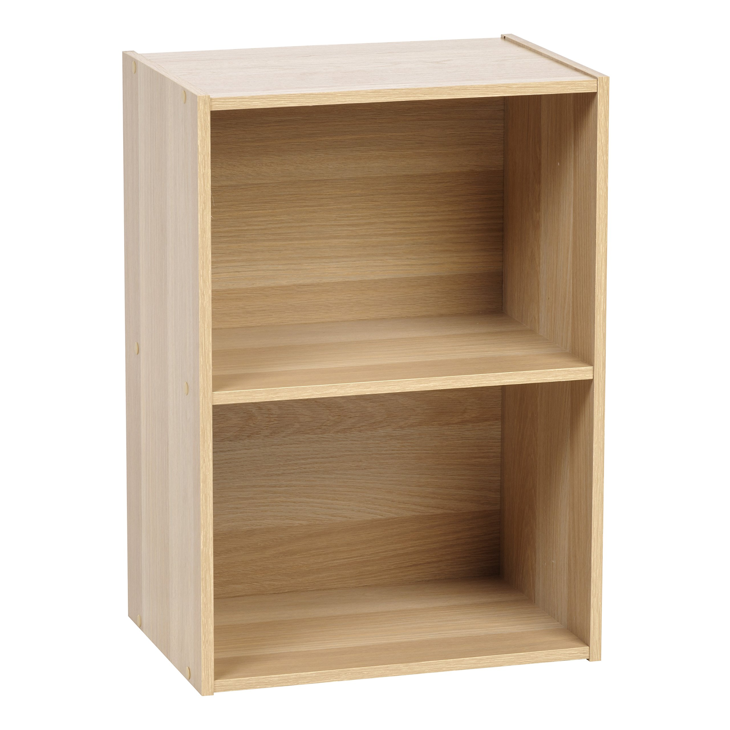 IRIS USA 596164 2-Tier Wood Storage Shelf, Light Brown by IRIS USA, Inc.
