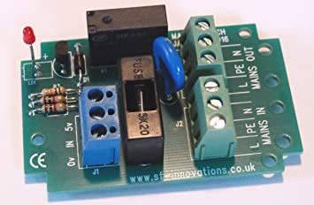 SF Innovations Mains Switch Relay 2: Ready-Built PCB Assembly for Raspberry  Pi, Beaglebone, Arduino & PIC