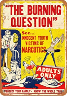 metal tin sign Adults Only-1936 Marihuana Exposed Vintage Look Reproduction