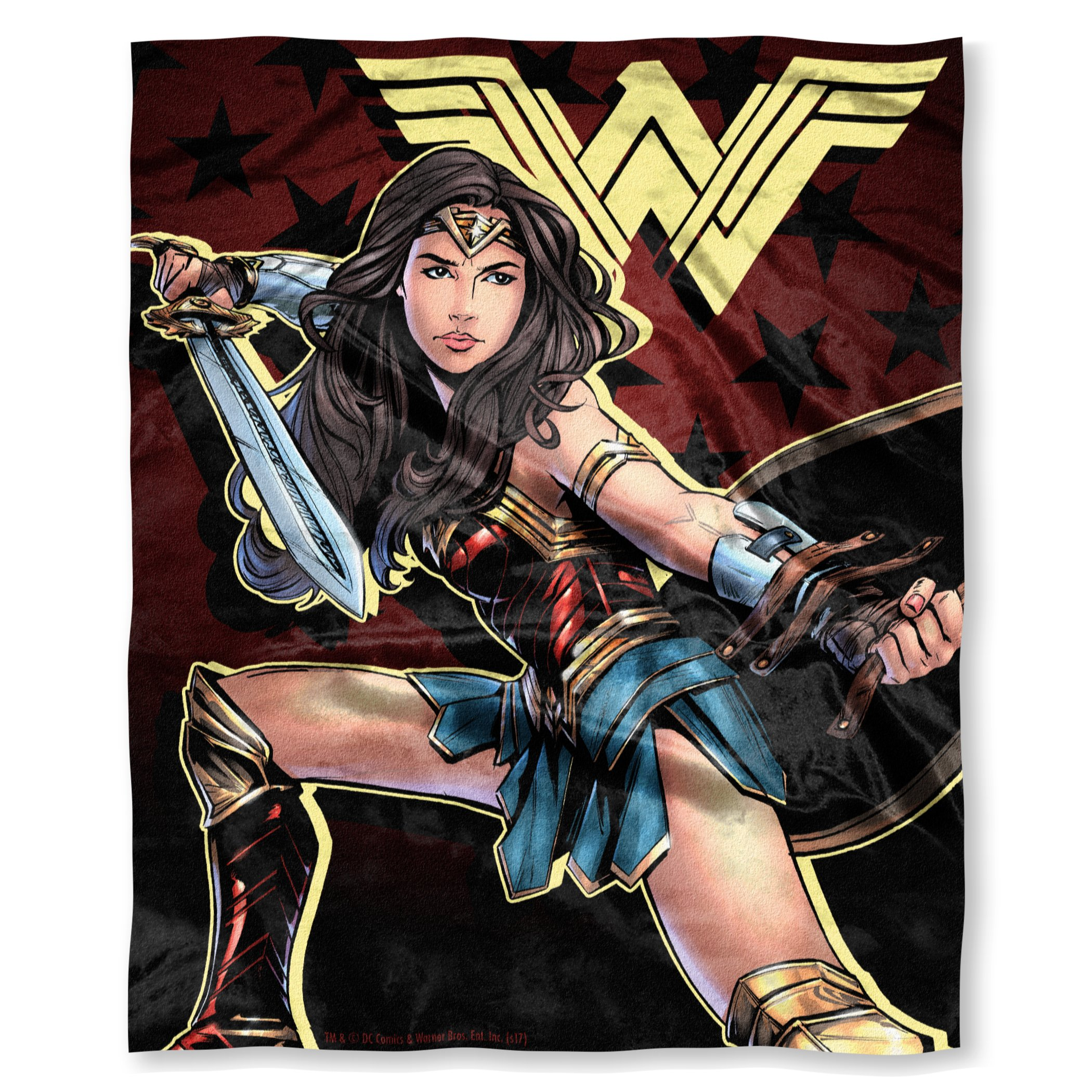 Warner Brothers DC Comics Wonder Woman, ''Ya Okay'' Silk Touch Throw Blanket, 50'' x 60'', Multi Color by Warner Brothers DC comics