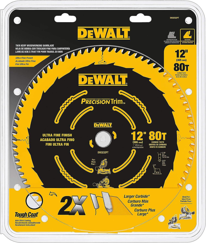 DeWalt 12-inch, 80T Tungsten Carbide Miter Saw Blade