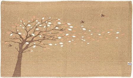 Tappeto Cotone Printy 50x80 cm 50x140 cm Bagno e Cucina Lavabile in Lavatrice Antiscivolo Vari Colori Assorbente Beige, 50x80 cm