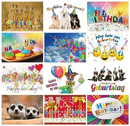 Tarjetas de cumpleaños (Set 2): 24 - Juego de tarjetas ...