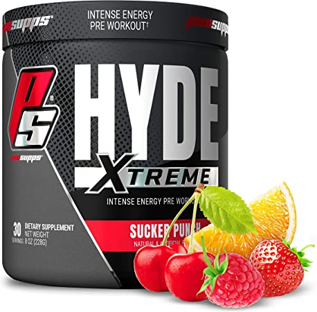 ProSupps® Mr. Hyde® Xtreme (Former NitroX) Pre-Workout Powder Energy Drink - Intense Sustained Energy, Pumps & Focus with Beta Alanine, Creatine & Nitrosigine, (30 Servings, Sucker Punch)